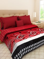 Red Printed Double Bed AC Blanket - By