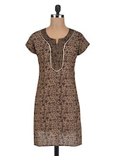 Printed Brown Cotton Tunic - By