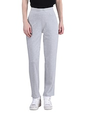 Grey Cotton Lycra Hipster Lounge Pant - By