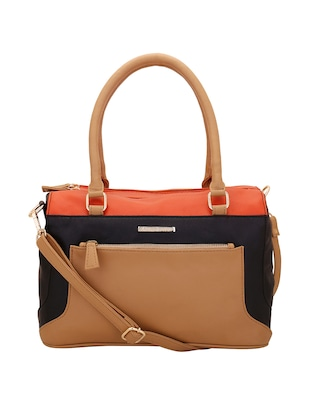 Multi leatherette handbag