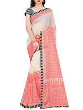 white color saree -  online shopping for Sarees
