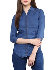 blue denim regular shirt -  online shopping for Shirts