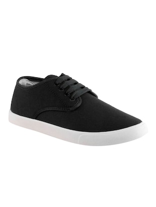 black canvas lace up shoes -  online shopping for Shoes