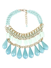 green metal heavy statement necklace -  online shopping for Necklaces