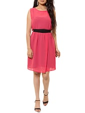pink chiffon dress -  online shopping for Dresses
