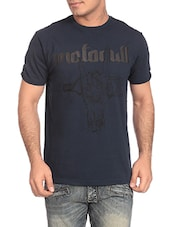 dark blue cotton tshirt -  online shopping for T-Shirts