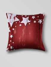Red Polyester Digital Printed Cushion Cover - By