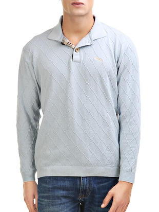solid grey cotton pullover