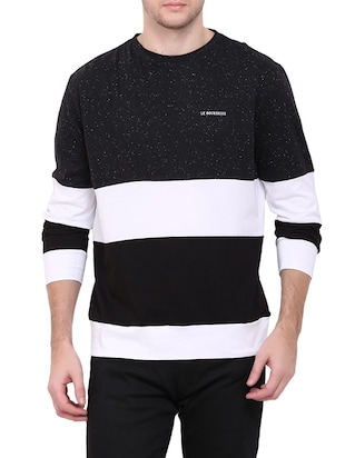 monochrome colour block t-shirt