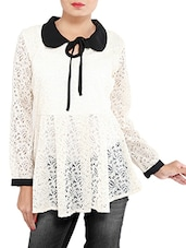 white chiffon top -  online shopping for Tops