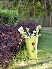 Yellow Bucket Planters (Set Of 4) - By