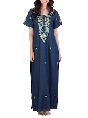 dark blue denim nighty -  online shopping for Sleepshirts & Nighties