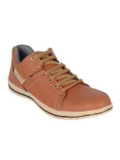 brown synthetic lace up shoes -  online shopping for Shoes