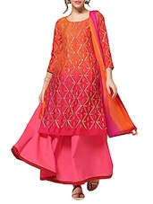orange kurta bottom set -  online shopping for Sets