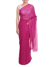 Pink Paisley Printed Bandhej Georgette Saree - By