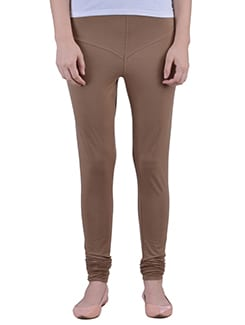 brown Cotton Lycra full Length Legging  available at Limeroad for Rs.359