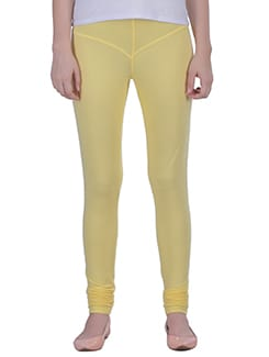 yellow Cotton Lycra full Length Legging  available at Limeroad for Rs.359