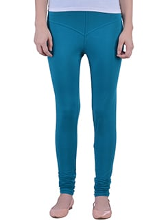 blue Cotton Lycra full Length Legging  available at Limeroad for Rs.359