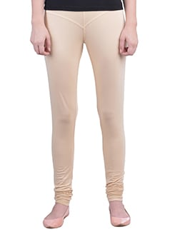 beige Cotton Lycra full Length Legging  available at Limeroad for Rs.359