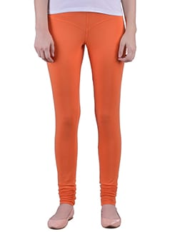 orange Cotton Lycra full Length Legging  available at Limeroad for Rs.359