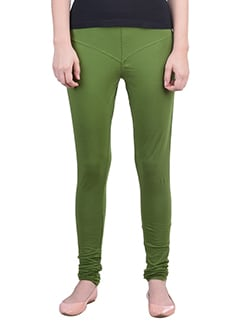 green Cotton Lycra full Length Legging  available at Limeroad for Rs.359