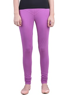 purple Cotton Lycra full Length Legging  available at Limeroad for Rs.359