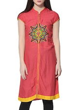 peach rayon regular kurti -  online shopping for kurtis
