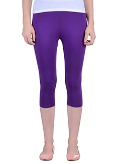 purple cotton capri legging  available at Limeroad for Rs.323