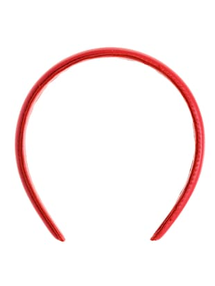 Hair Drama Red Leather Headband -  online shopping for Hair accessories