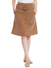 brown polyester aline skirts -  online shopping for Skirts