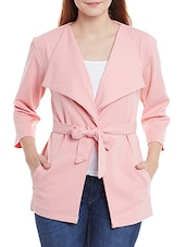 pink polyester coat -  online shopping for Coats