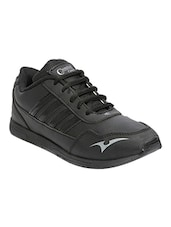 black synthetic lace up sports shoes -  online shopping for Sports Shoes
