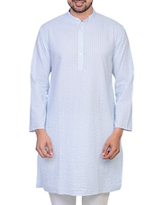 white cotton striped kurta -  online shopping for Kurtas