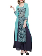 Blue Georgette Long  Kurta - By