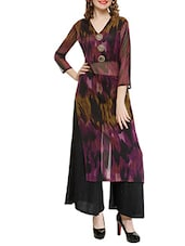 Multicolored georgette long kurta -  online shopping for kurtas