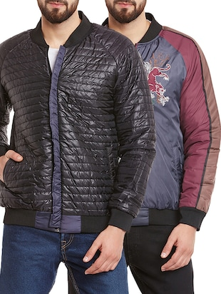 multi colored set of 2 polyester casual jacket -  online shopping for Casual Jacket