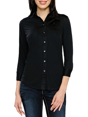 black none regular shirt