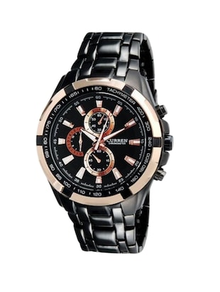 Curren Expedition Analog Water Resistant Rose Gold Dial Men's Watch -  online shopping for Analog Watches