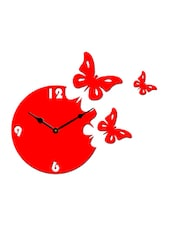 Sehaz Artworks Moon Butterfly Red_Black Wall Clocks -  online shopping for Wall Clocks