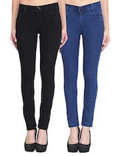 black denim combo jeans -  online shopping for Jeans