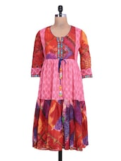 Printed Multicolor Cotton Anarkali Kurta - By