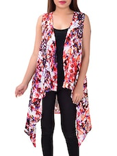 multicolored printed georgette shrug -  online shopping for Shrugs