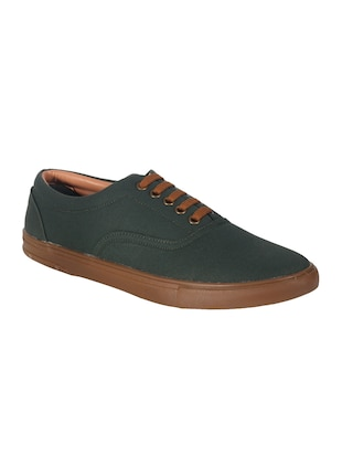 green Canvas lace up shoe -  online shopping for Shoes