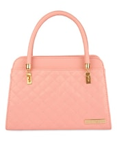 Pink Leatherette Hand Bag - By