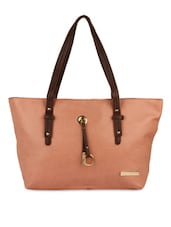 Pink Leatherette Hand Bag - By - 1284375