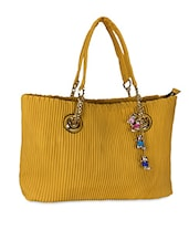 Yellow Leatherette Handbag - By