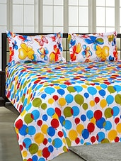 Salona Bichona 100% Cotton King Size Bedsheet with Two Pillow Covers -  online shopping for bed sheet sets
