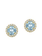blue silver studs earring -  online shopping for Earrings
