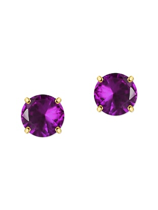 purple silver studs earring -  online shopping for Earrings