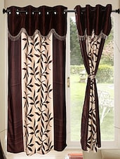Set of 8 Kings Furnishing  7ft Designer (With Skalap) Door Curtain -  online shopping for Curtains